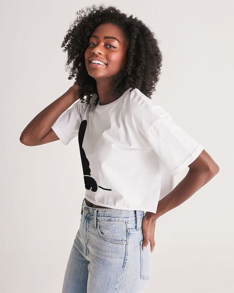 Hello? Women's Lounge Cropped Tee