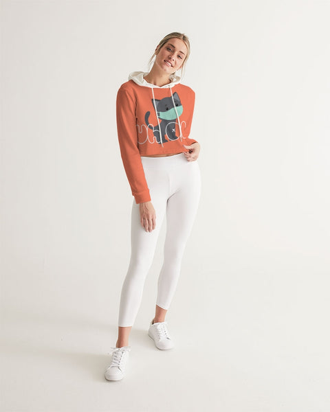 Uh Oh! Women's Cropped Hoodie