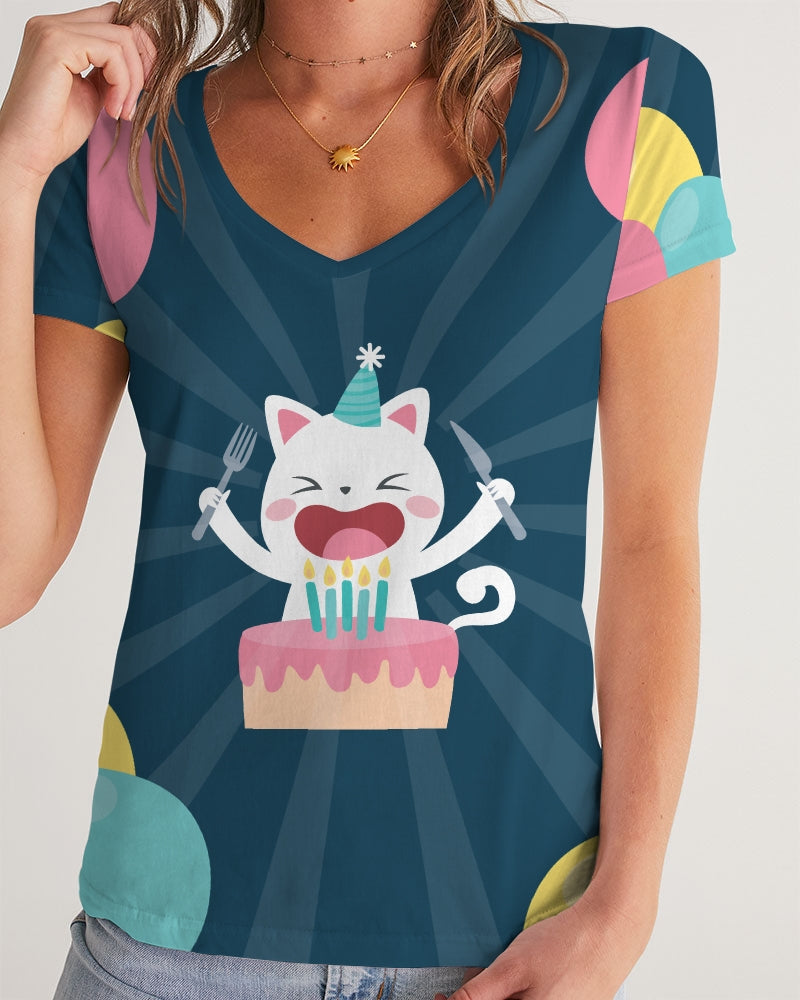 Birthday Cake Now! Women's V-Neck Tee