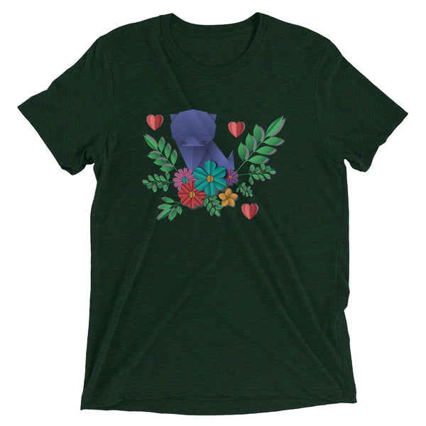 Flower Cat Short sleeve t-shirt