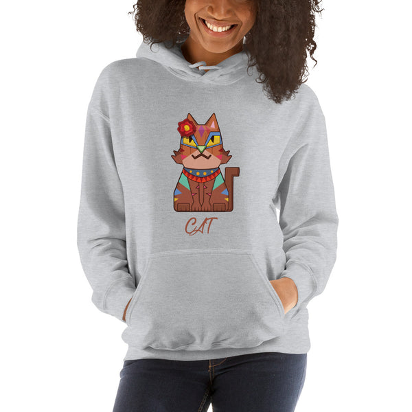 Square Cat Hooded Sweatshirt