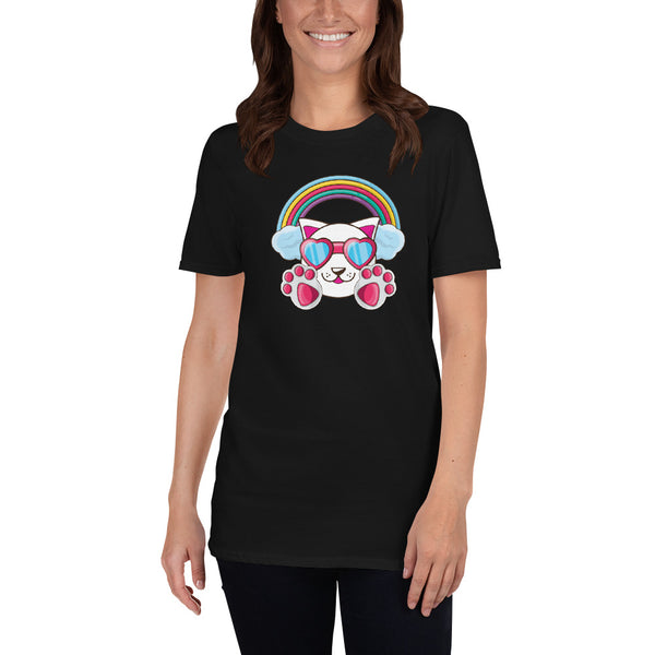 Rainbow Cat Short-Sleeve Unisex T-Shirt