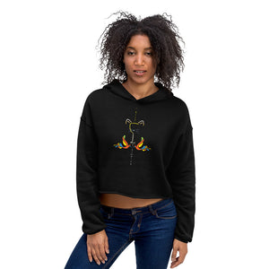 Wine Right Meow Crop Hoodie