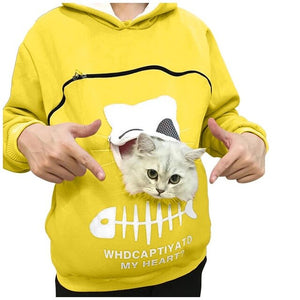 Cat Lovers Hoodie Kangaroo Cat n Dog Cuddle Pouch