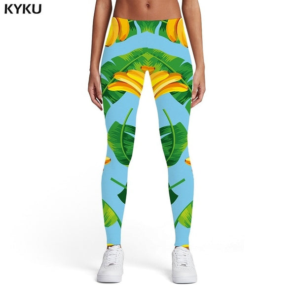 KYKU Brand Cat Graffiti Leggings
