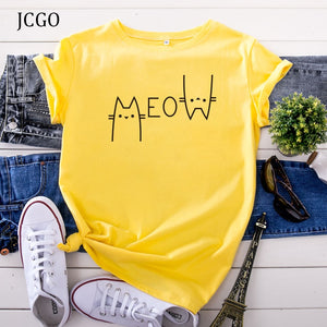 JCGO MEOW Summer Women T Shirt