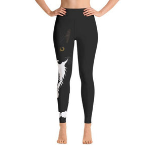 Lovely Black Cat Pattern Slim Workout Leggings