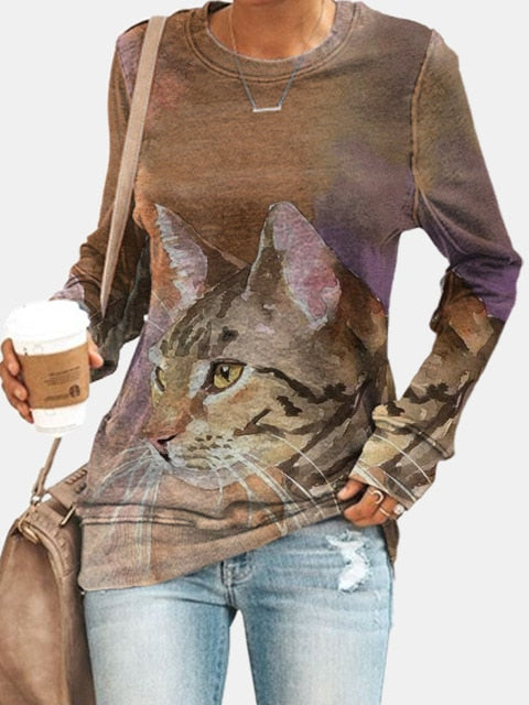 Winter Spring Street Hipster Loose Starry Butterfly Top