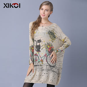 Oversize Cat-on-a-Bike Sweater