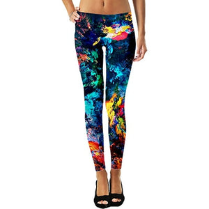 Galaxy Star Space Cat Leggings