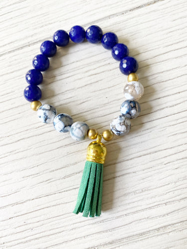 Blue + Green Tassel