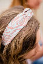 Load image into Gallery viewer, Coral + Teal Headband