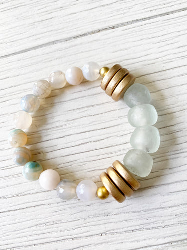 Neutral Recycled Beads