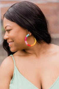 Fun Beaded Hoops