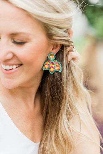 Bright Beaded Dangles