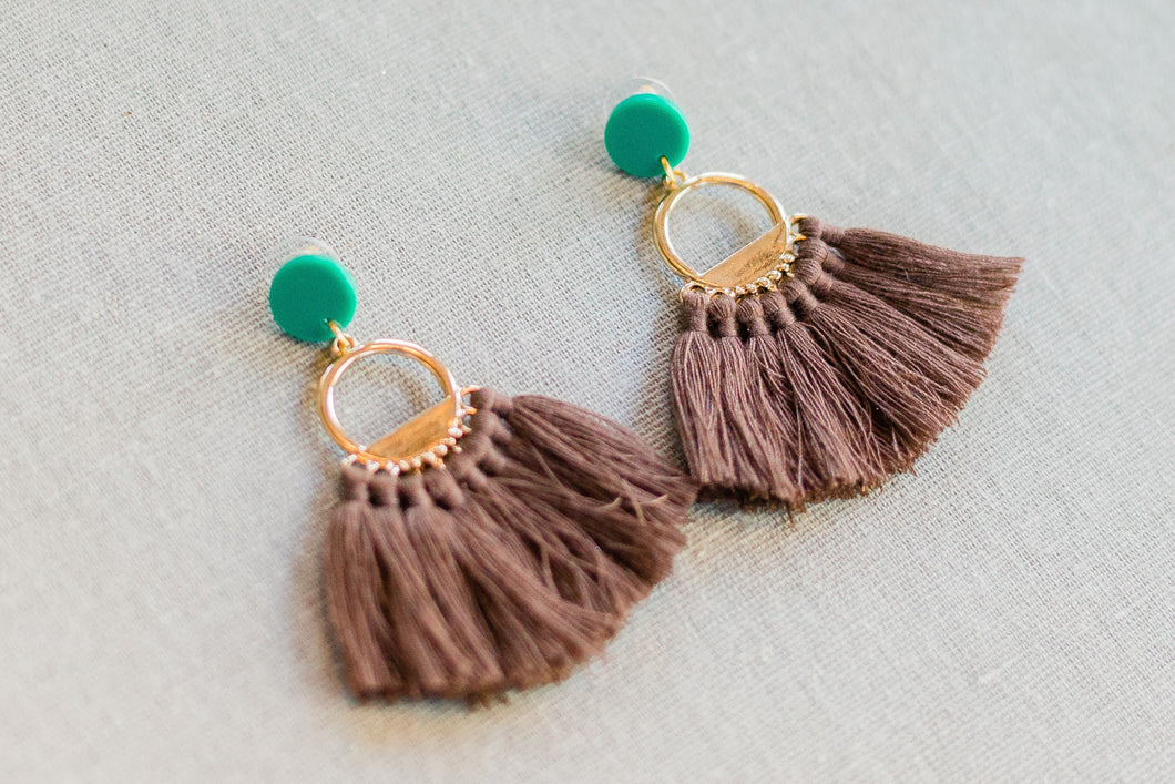 Brown Tassels