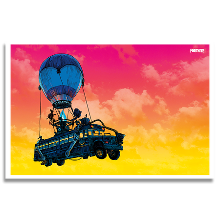 Battle Bus Loading Screen Lithograph