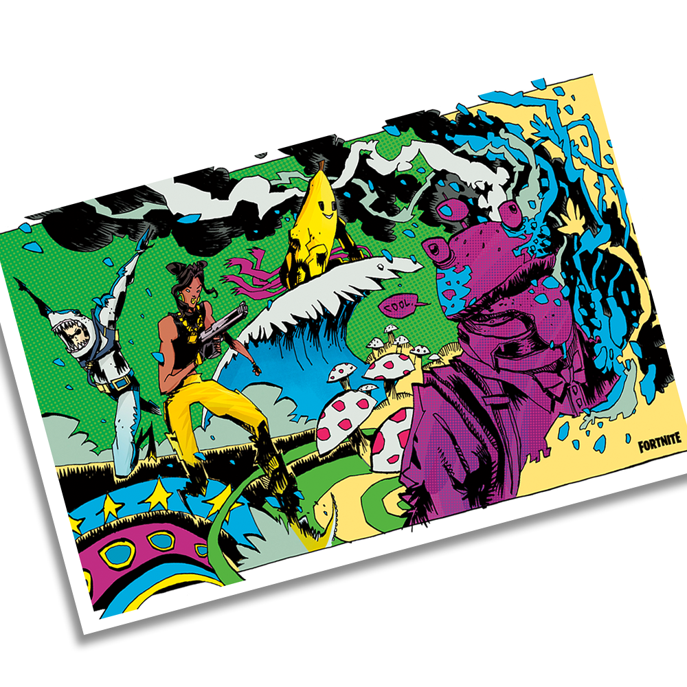 Jim Mahfood Loading Screen Lithograph