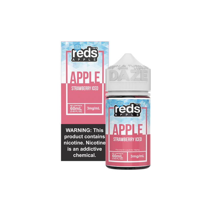 red 60ml apple strawberry iced