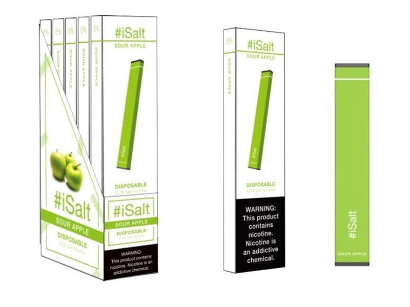Stick Disposable Nicotine Vape Device sour apple flavor