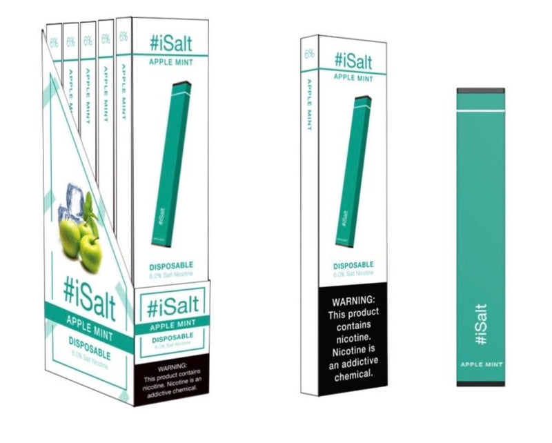 Disposable Nicotine Vape Device apple mint flavor