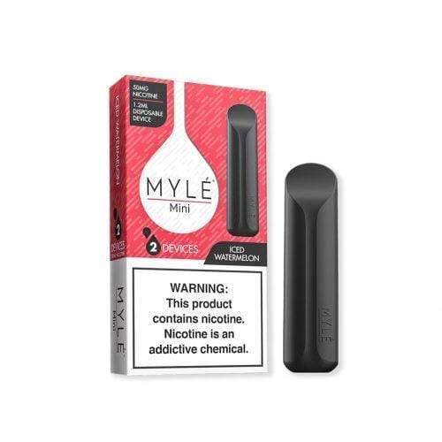 Myle Mini Disposable Vape Device iced watermelon taste