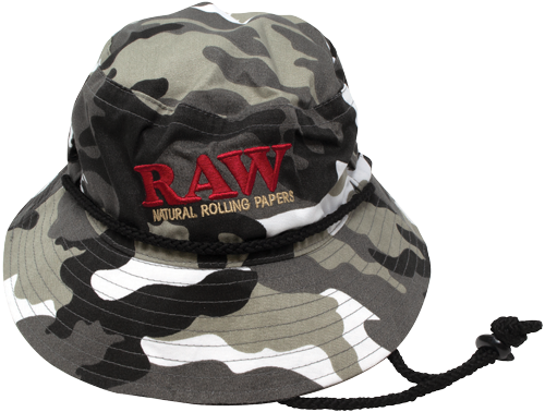 RAW Smokermans Hat Black / Camo