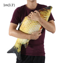 Carp fish shape throw pillow wild