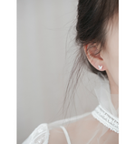 Load image into Gallery viewer, silver butterfly ear studs