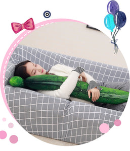 3D big cucumber plush pillow