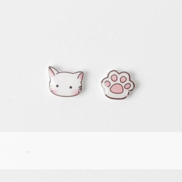 Kitty paw stud earrings