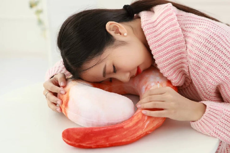 Shrimp neck pillow 360° neck support and take a high protein fresh nap)