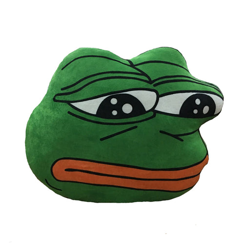 sad frog pillow