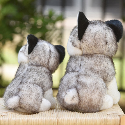 Cute Husky Dog Plush Toy Stuffed Animal Doll