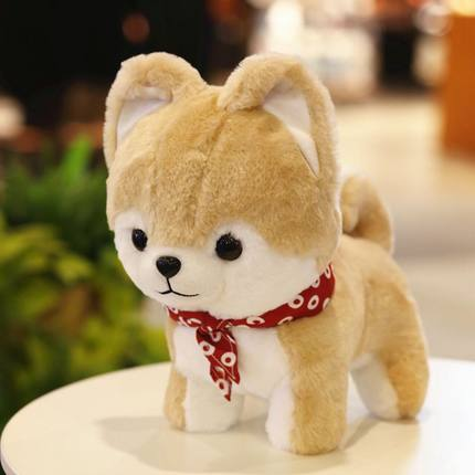 Cute Shiba inu Dog Plush Toy Stuffed Animal Doll