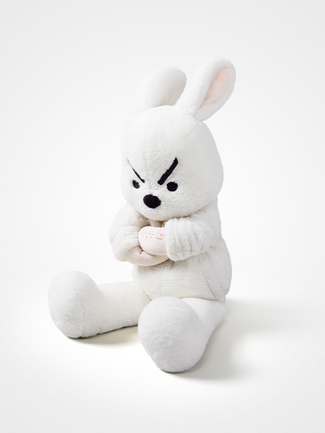 Strict looking brother rabbit plush