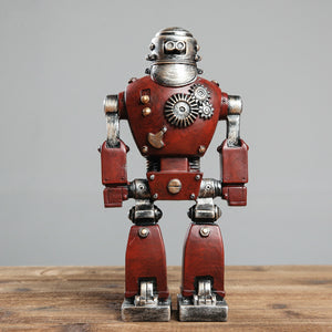Retro Machinarium Style Robot Desktop Figure