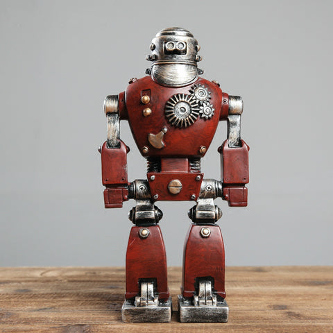 Retro Machinarium style Robot Figure de bureau