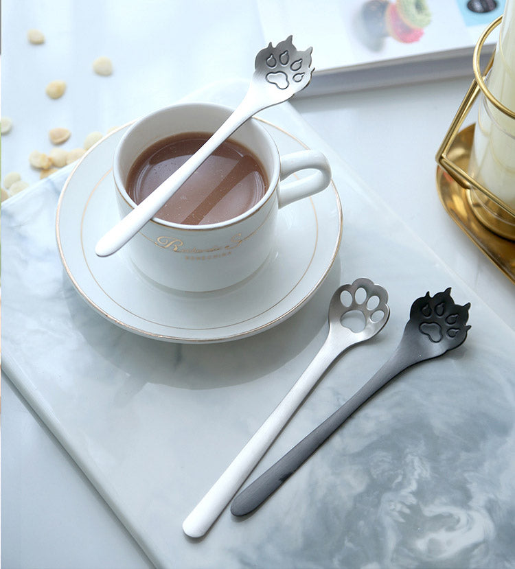 cat paw & dog paw teaspoons