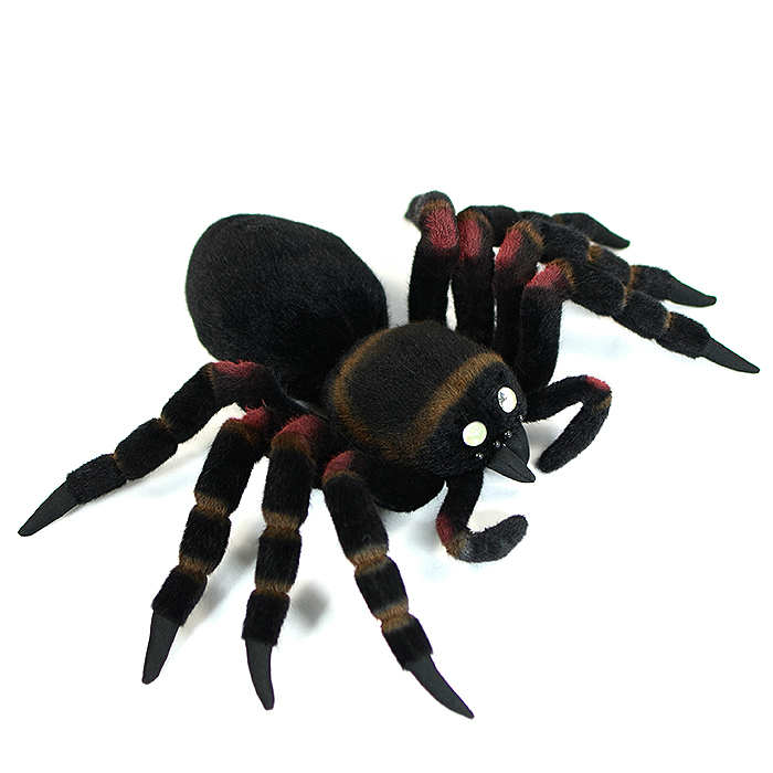 Mexican red knee tarantula plush | stuffed black spider