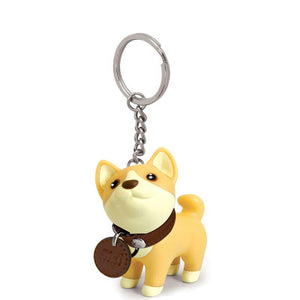 Shiba inu/ Husky dog keychain & tote bag/backpack/cellphone/car decoration
