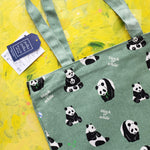 Load image into Gallery viewer, panda tote bag
