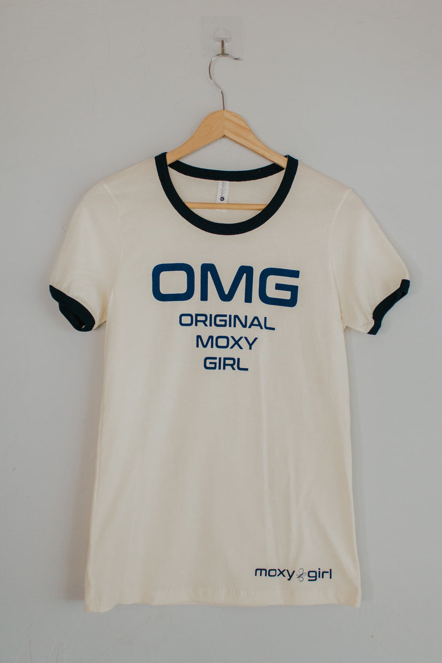 OMG Original Moxy Girl short sleeve ringer tee