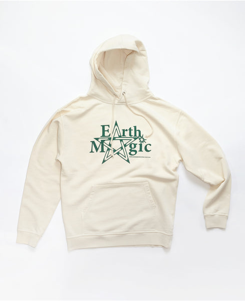 Earth Magic Pullover fleece hood - Natural
