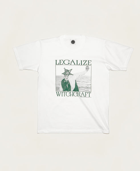 Legalize Witchcraft SS Tee - White