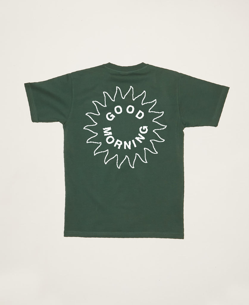 Sun Logo SS Tee - Amazon Green