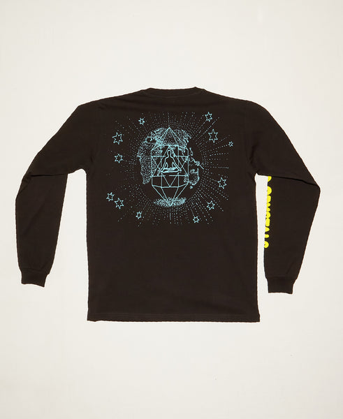 Cosmic Crystals LS Tee - Washed Black
