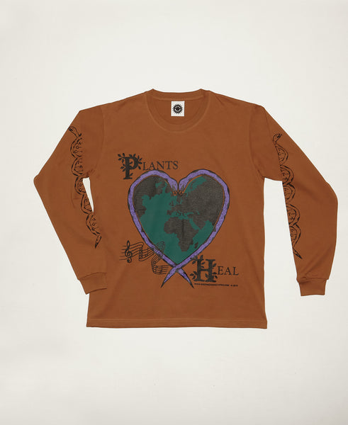 Plants Heal LS Tee - Clay