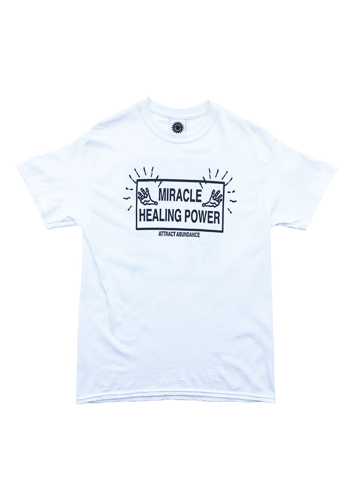 ATTRACT ABUNDANCE SS TEE - WHITE