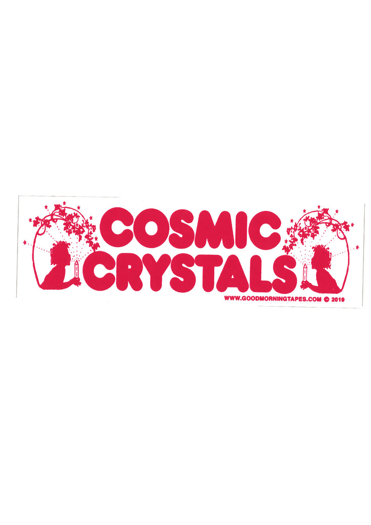 COSMIC CRYSTALS BUMPER STICKER - WHITE